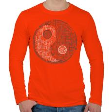 PRINTFASHION Egyensúly - Férfi hosszú ujjú póló - Narancs