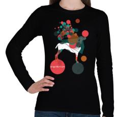 PRINTFASHION Egyensúlyban - Női hosszú ujjú póló - Fekete