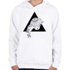 PRINTFASHION Éjjeli bagoly - Gyerek kapucnis pulóver - Fehér