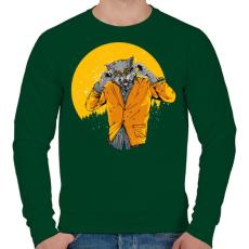 PRINTFASHION Éjjeli szörnyfarkas - Férfi pulóver - Sötétzöld