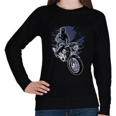 PRINTFASHION éjszakai motoros - Női pulóver - Fekete