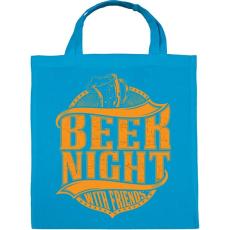 PRINTFASHION Éjszakai sörözés - Vászontáska - Kék