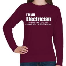 PRINTFASHION ELECTRICIAN - Női pulóver - Bordó