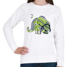 PRINTFASHION Elefánt - Női pulóver - Fehér