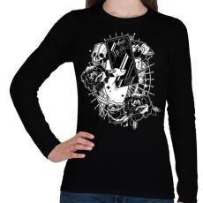 PRINTFASHION Elkötelezett - Női hosszú ujjú póló - Fekete