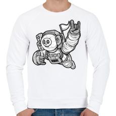 PRINTFASHION Elveszve az űrben - Férfi pulóver - Fehér