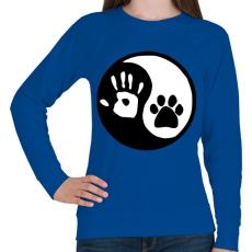 PRINTFASHION Ember/állat barátság - Női pulóver - Királykék