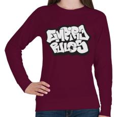 PRINTFASHION Empire Rules - Női pulóver - Bordó