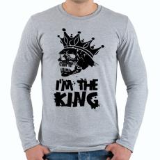PRINTFASHION Én vagyok a király - Férfi hosszú ujjú póló - Sport szürke