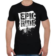 PRINTFASHION Epic Ride - fehér - Férfi póló - Fekete