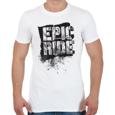 PRINTFASHION Epic Ride - fekete - Férfi póló - Fehér