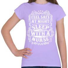 PRINTFASHION Érezd magad biztonságban éjszaka, aludj nővérrel!  - Női póló - Viola