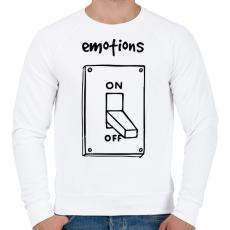 PRINTFASHION Érzelmek Be-Ki - Férfi pulóver - Fehér