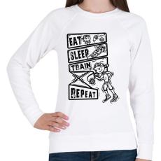 PRINTFASHION Evés, alvás, edzés - Női pulóver - Fehér
