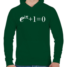 PRINTFASHION Example. - Férfi kapucnis pulóver - Sötétzöld