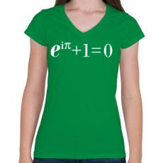 PRINTFASHION Example. - Női V-nyakú póló - Zöld