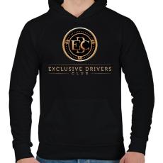 PRINTFASHION Exclusive DC - Férfi kapucnis pulóver - Fekete
