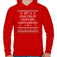 PRINTFASHION Ezt a SZ@R pólót... - Férfi kapucnis pulóver - Piros