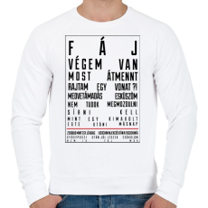 PRINTFASHION F Á J - Férfi pulóver - Fehér