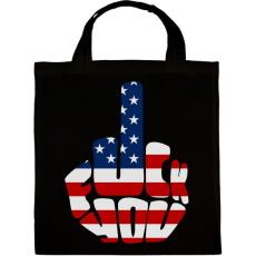PRINTFASHION F*ck You! USA for life! - Vászontáska - Fekete