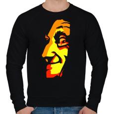 PRINTFASHION Face - Férfi pulóver - Fekete