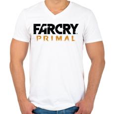 PRINTFASHION Far Cry Primal - Férfi V-nyakú póló - Fehér