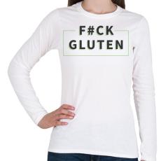 PRINTFASHION fcuk-gluten-grey-green - Női hosszú ujjú póló - Fehér