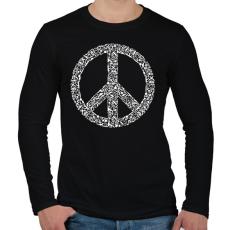 PRINTFASHION Fegyver béke - Férfi hosszú ujjú póló - Fekete
