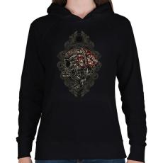 PRINTFASHION Fejvadász - Női kapucnis pulóver - Fekete