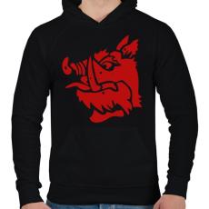 PRINTFASHION fekete lovag - Férfi kapucnis pulóver - Fekete
