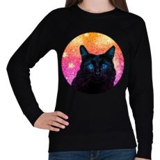PRINTFASHION Fekete macska - Női pulóver - Fekete