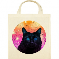 PRINTFASHION Fekete macska - Vászontáska - Natúr