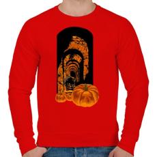 PRINTFASHION Félelmetes - Férfi pulóver - Piros