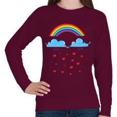 PRINTFASHION Felhőcskék - Női pulóver - Bordó