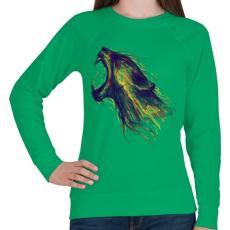 PRINTFASHION Fellobban - Női pulóver - Zöld