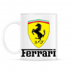 PRINTFASHION Ferrari - Bögre - Fehér