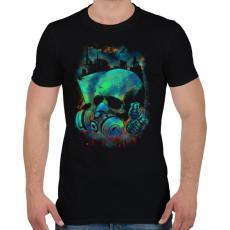PRINTFASHION Fertőzés - Férfi póló - Fekete