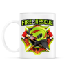 PRINTFASHION Fire and Rescue - Bögre - Fehér