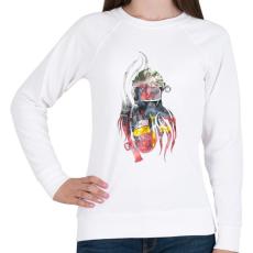 PRINTFASHION Fire&Smoke - Női pulóver - Fehér
