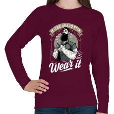 PRINTFASHION Fitt szakáll - Női pulóver - Bordó