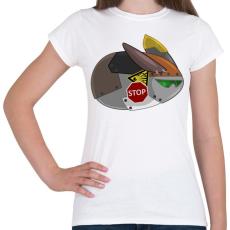 PRINTFASHION Flying Robot Rabbit - Női póló - Fehér