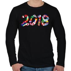 PRINTFASHION Foci VB 2018 - Férfi hosszú ujjú póló - Fekete