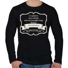 PRINTFASHION Főnyeremény - Férfi hosszú ujjú póló - Fekete