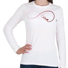 PRINTFASHION Forever1 - Női hosszú ujjú póló - Fehér