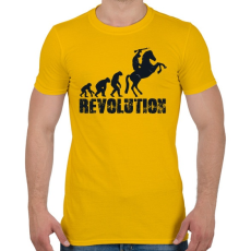 PRINTFASHION Forradalom - Férfi póló - Sárga