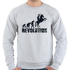 PRINTFASHION Forradalom - Férfi pulóver - Sport szürke