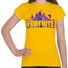 PRINTFASHION Fortnite #1 - Női póló - Sárga