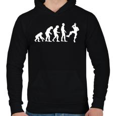 PRINTFASHION Fortnite evolúció - Férfi kapucnis pulóver - Fekete