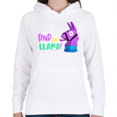 PRINTFASHION Fortnite Lama - Női kapucnis pulóver - Fehér