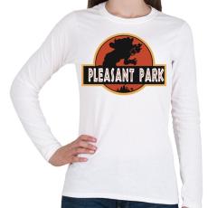PRINTFASHION Fortnite Pleasant Park - Női hosszú ujjú póló - Fehér